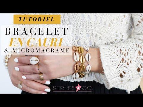 TUTO - DIY | BRACELET BOHEME MACRAME ET COQUILLAGE CAURI