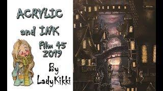 Dark WaterCity | Acrylic | Film 45 2019 | by LadyKikki