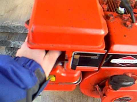 Briggs & Stratton 3HP 1988 cold start (smoky) - YouTube