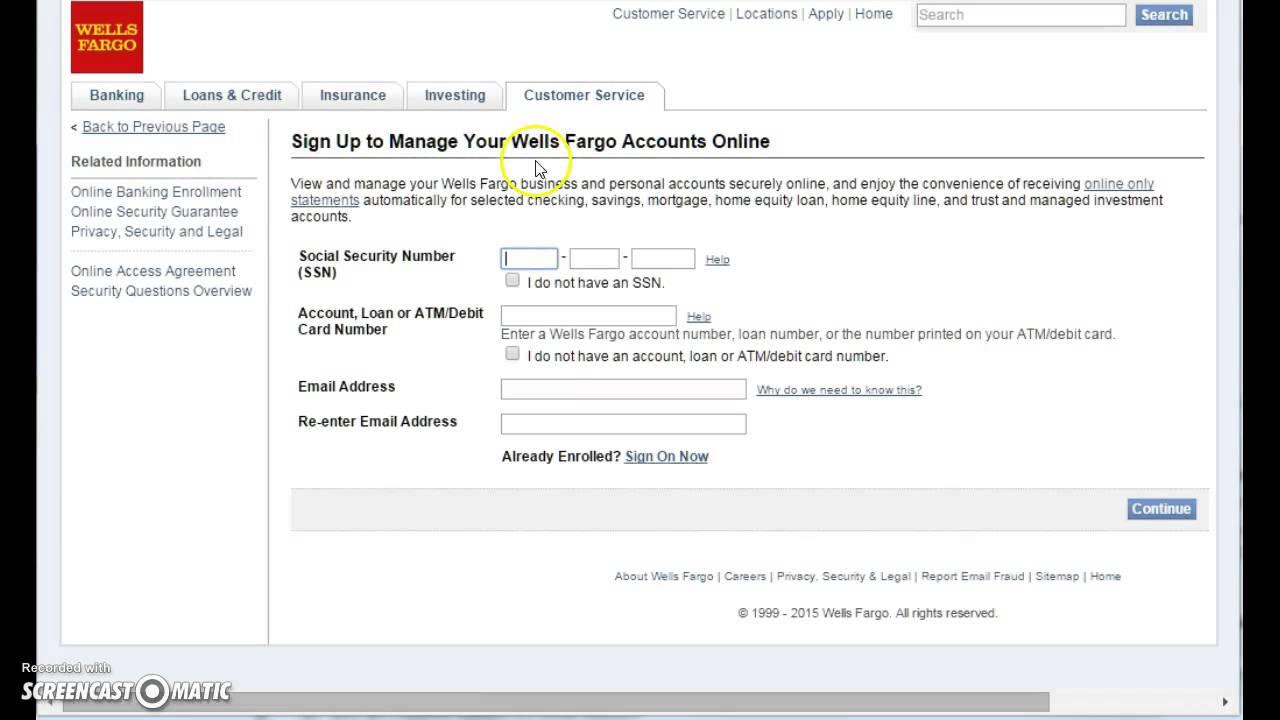 Wells Fargo Online Banking Login Www Wellsfargo Com Youtube