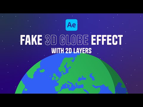 After Effects Tutorial - Animate a fake 3D globe with 2D layers