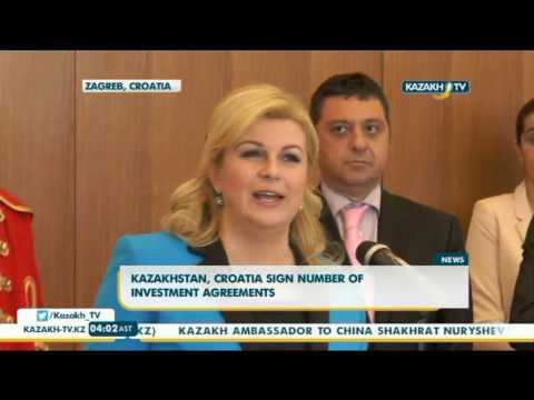 Kazakhstan, Croatia sign number of investment agreements - Kazakh TV