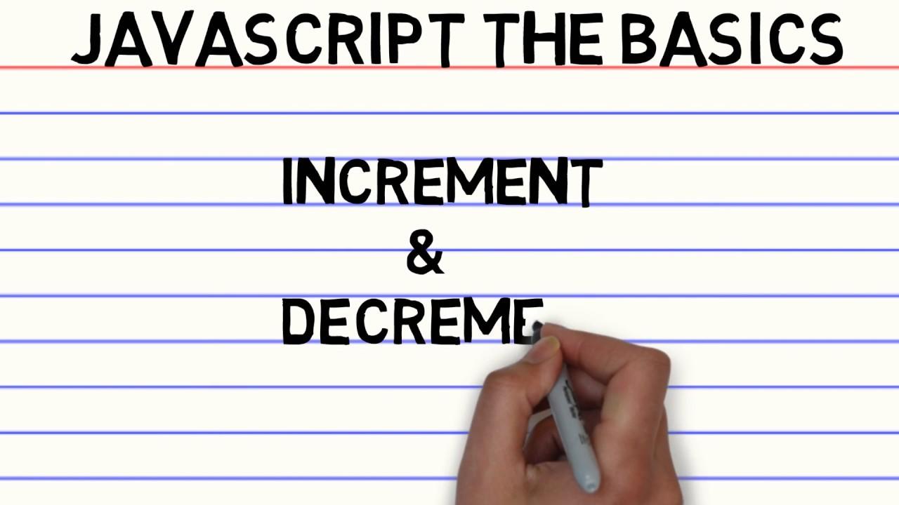 JavaScript the Basics - Increment and Decrement Operator