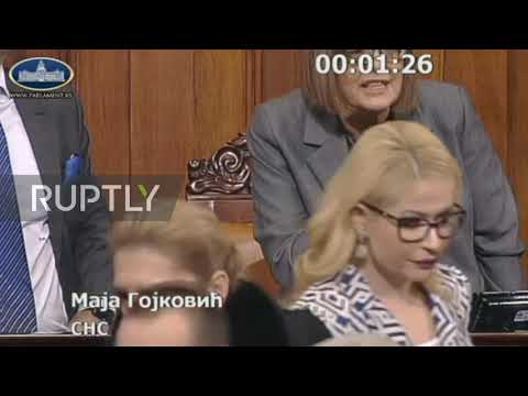 Serbia: Parliament brawl over Montenegro religious freedom law