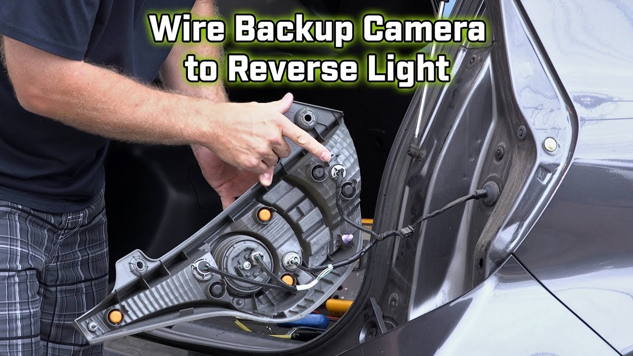 Back Up Camera Wiring How To Wire The Reverse Light Youtube 4 Trailer Connector Diagram Brake Lamp