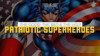 Rob Liefeld's Captain America, Amalgam Comics Super Soldier & Erik Larsen's Superpatriot