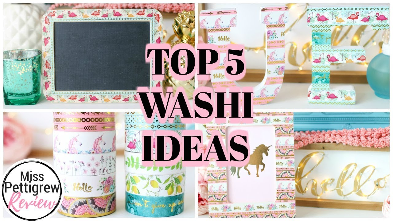 5 Easy Diy Washi Tape Crafts What Is Washi Tape Used For Youtube