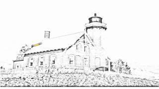 Auto Draw 2: Eagle Harbor Lighthouse, Keweenaw Peninsula, Michigan