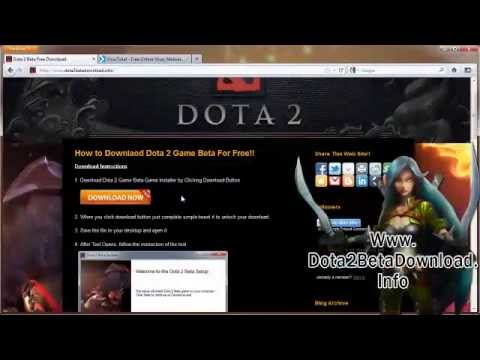 how to get free dota 2 beta game free on pc video youtube