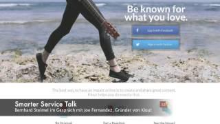 Smarter Service Talk mit Joe Fernandez, Gründer von Klout auf der dmexco 2014