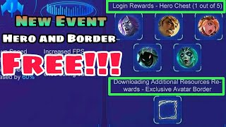 Free Hero Event Mobile Legends | Free Border and more stuffs | Patch 1.4.06 Mobile Legends