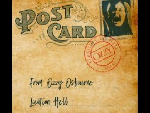 """Ozzy Osbourne releases teaser 'post-card' """"Straight To Hell"""", is it a new song ..??"""
