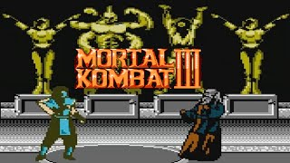 Mortal Kombat 3 (NES Pirate) - NES Longplay - SubZero Playthrough NO DEATH (Very Hard Difficulty)