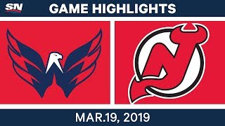 NHL Game Highlights | Capitals vs. Devils - March 19, 2019