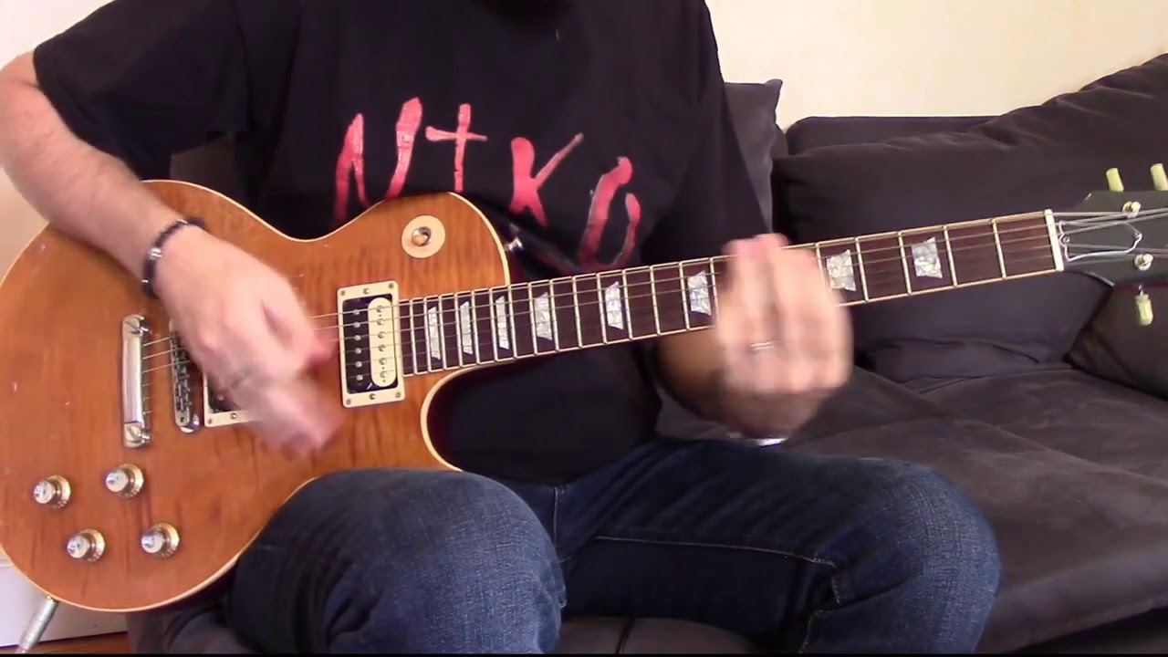 Guns N' Roses - Think About You (guitar cover) with Gibson Slash AFD Aged & Signed & Headrush!!
