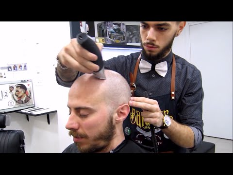 Asmr mens haircut binaural