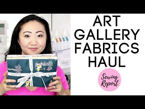 Art Gallery Fabrics Haul January 2017 | SEWING REPORT