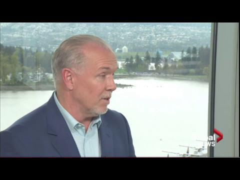 BC NDP Leader John Horgan interviewed by Global's Keith Bald