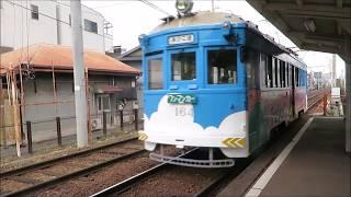 【モ161形青雲塗装車など】阪堺電車・あびこ道電停にて