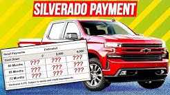 How much is the MONTHLY payment on a new Silverado?