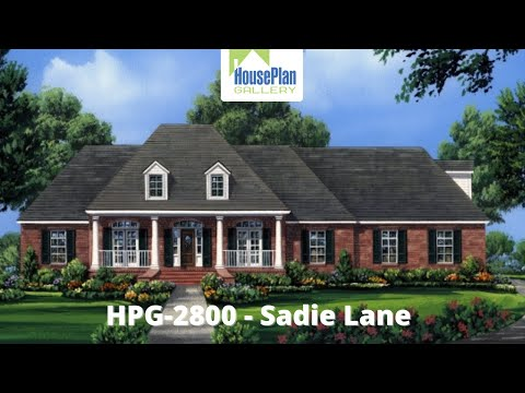 HPG-2800-1 2,800 SF, 4 Bed, 3.5 Bath Country House Plan by House Plan Gallery