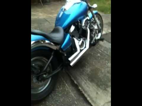 vn900 highway hawk short cut - YouTube