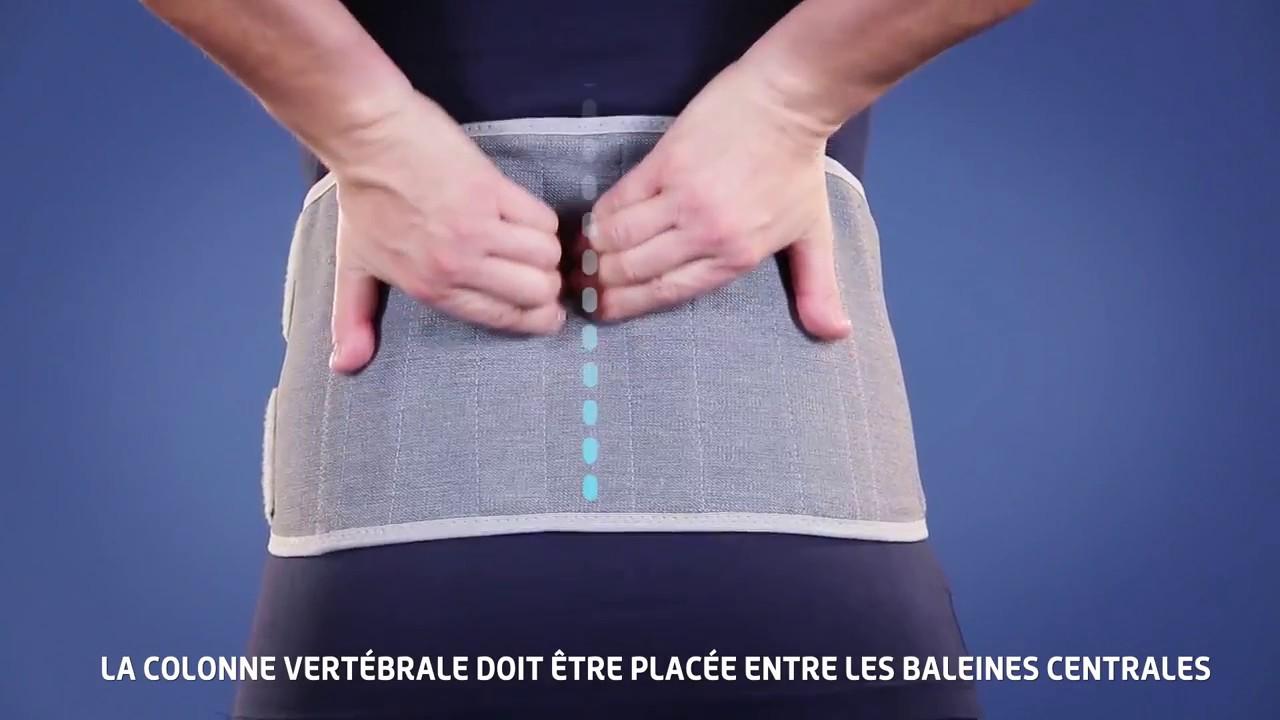 date de sortie beau nouveau pas cher Comment mettre la ceinture lombaire Lombax Original Thuasne?