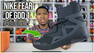 WATCH BEFORE YOU BUY! Nİke Air Fear Of God 1 Triple Black Review