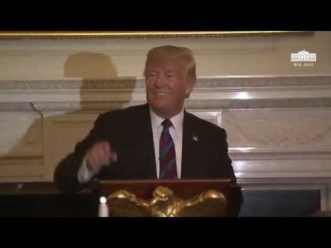 President Trump and The First Lady Host a Dinner Celebrating Evangelical Leadership