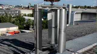 Vertikales Windrad (VAWT) C-Rotor - vertikal axis wind turbine 0,5 - 1 kw (2) www.starkwind.net