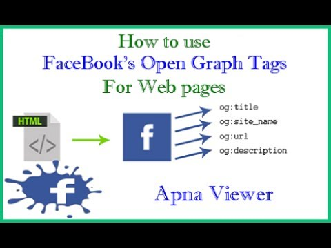 How to use FaceBook's Open Graph Tags For Web pages