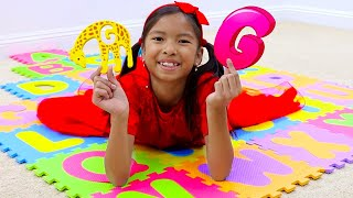 Learn ABC Alphabet with Wendy and Alex | Kids Look for ABC Animals Letters Toys