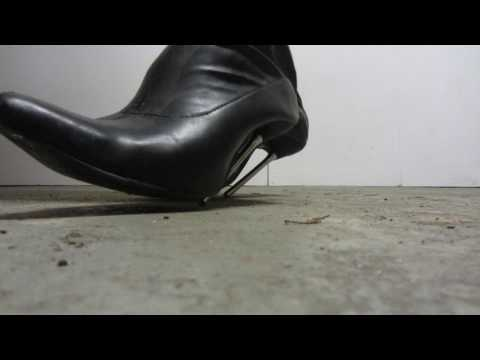 Punishing the concrete floor with my metal stiletto heels