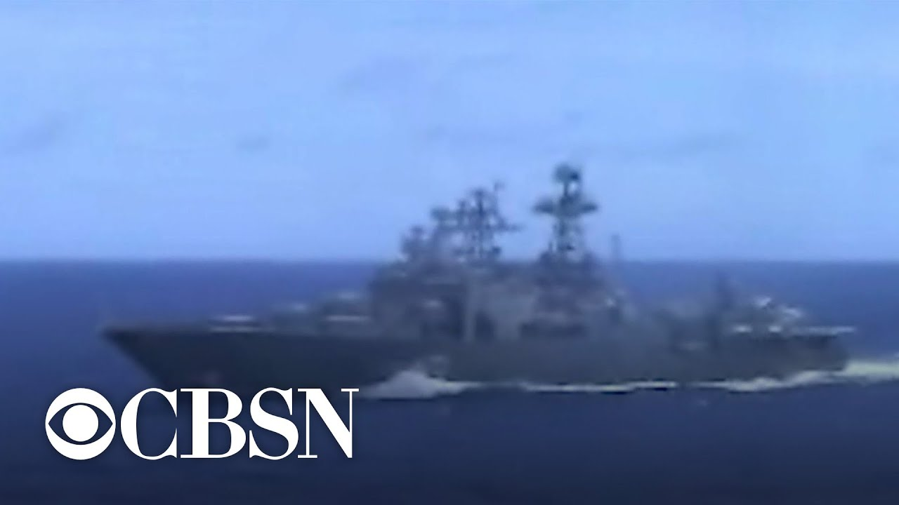 U S  Navy: Russian destroyer almost collided with cruiser