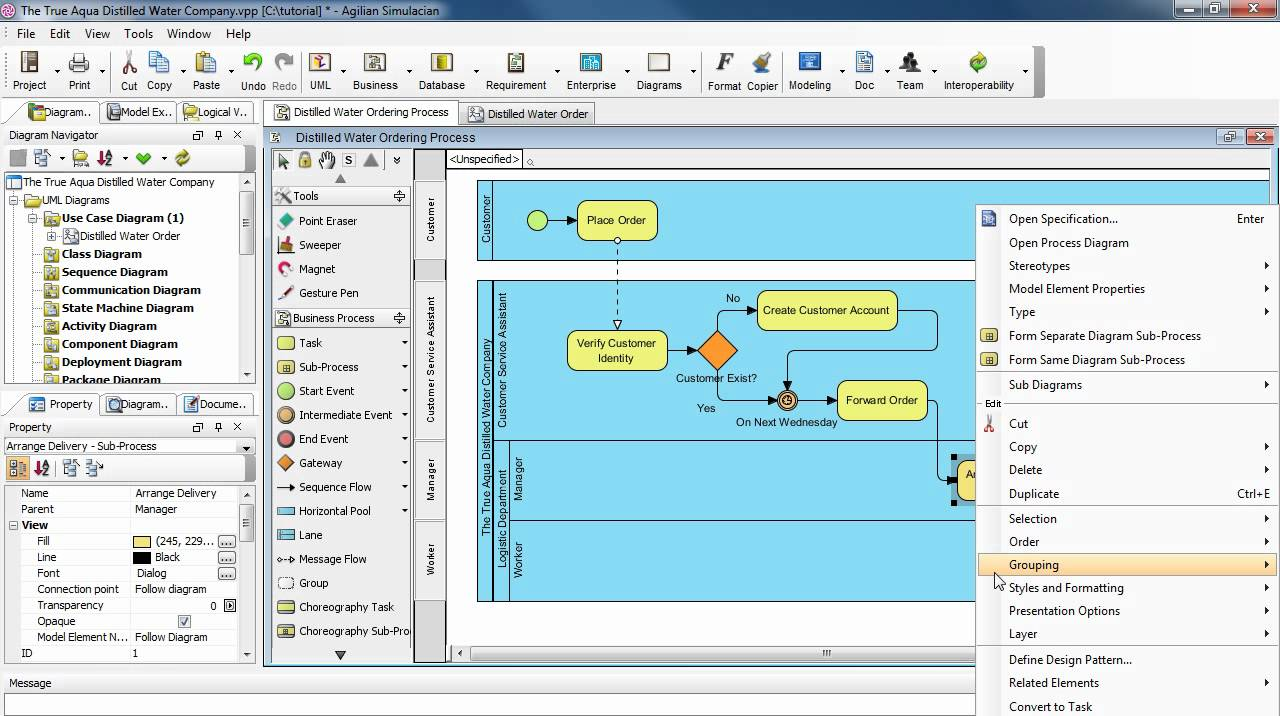 how to create use case diagram from business process diagram youtube - Software To Create Use Case Diagrams