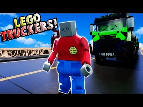 LEGO TRUCKERS RACE! - Brick Rigs Multiplayer Gameplay & Roleplay - Fun Lego Creations and Trucks