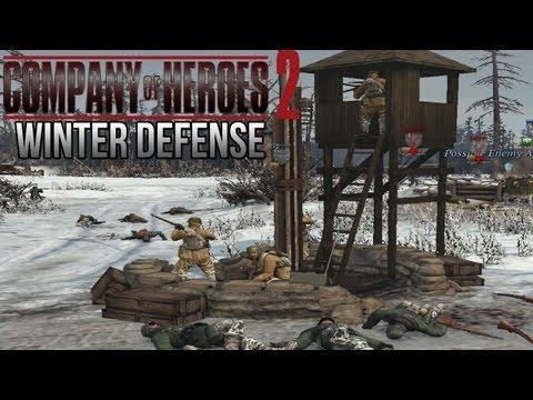 Company of Heroes 2 - Winter Defense on General - Theater of War Gameplay 2/2