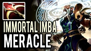 Undead Immortal Imba Lone Druid Damager by Meracle 8k MMR Insane Patch 7.02 Dota 2
