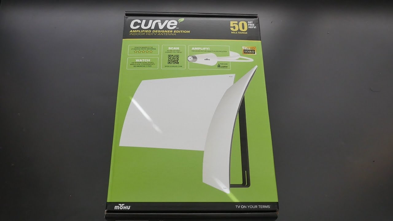 Mohu Leaf Curve 50 Mile Tv Antenna Review Best Tv Antenna Youtube