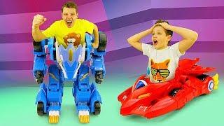 Видео с игрушками Монкарт - Прокачиваем Драка и Лео! - Игры гонки для машинок.