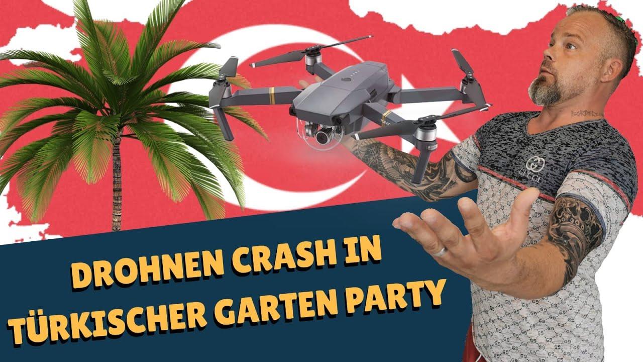 Drohne crashed in Türkische Gartenparty
