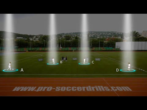 Soccer Passing Exercise - Innervating Changing Positions in Possession /Barca Style/