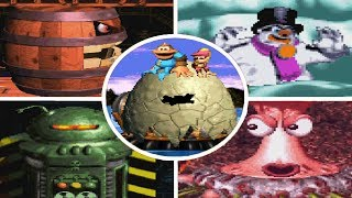 Donkey Kong Country 3: Dixie Kong's Double Trouble - All Bosses