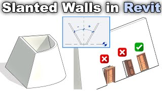 Tips and Tricks for Slanted Walls in Revit Tutorial