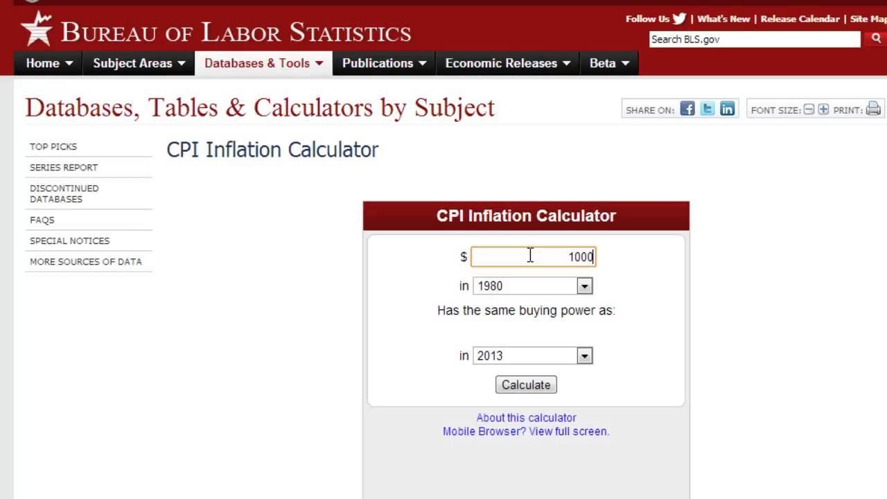 best inflation calculator