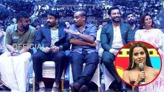 Mohanlal, Prithviraj Sukumaran And Tovino Thomas Enjoying Raiza's Winning Speech