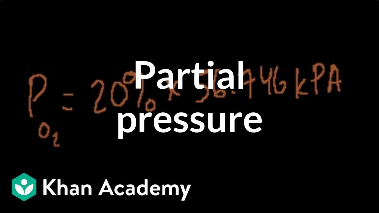 Partial pressure example (video) | Khan Academy