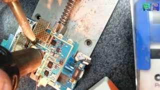 Samsung S5250 SIM connector replacement замена разъема SIM(Как восстановить или починить телефон в домашних условиях How to repair the phone at home Внимание! Данное видео не гара..., 2014-05-09T13:36:00.000Z)