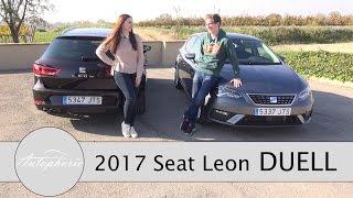 DUELL: 2017 Seat Leon gegen 2017 Seat Leon ST / Diesel gegen Benziner - Autophorie