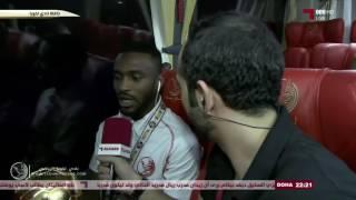 لقاءات مع اللاعبين من داخل حافلة الفريق
